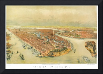 New York Panoramic Map