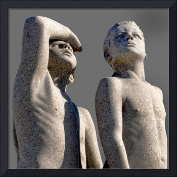 Group of Male Vigeland Sculptures Looking Skyward