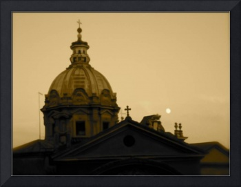 Moonrise Over Cathedral