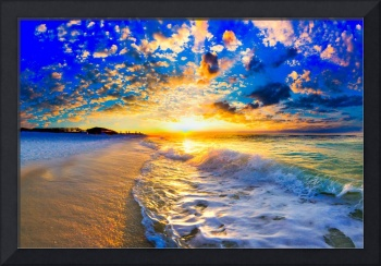 beautiful ocean sunset landscape photography
