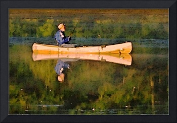 Lake Ripple Fisherman