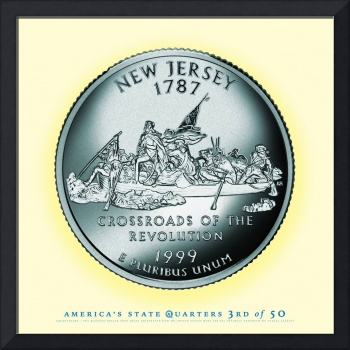 New Jersey State Quarter - Portrait Coin 03