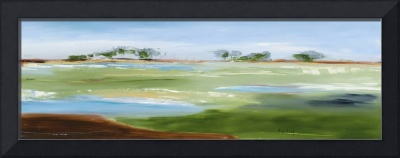 Green Pastures - Oil Painting On Maple Cradle