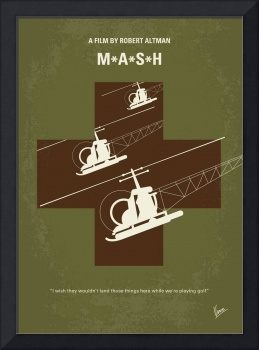 No733 My MASH minimal movie poster