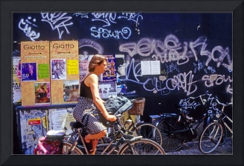 Haarlem Biker and Graffiti