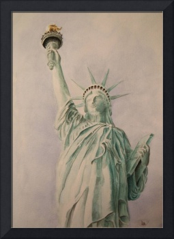 Statue of Liberty Watercolor Painting