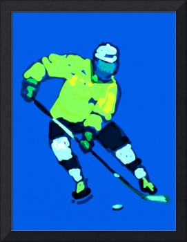 Hockey Left Wing blue yellow navy (c)