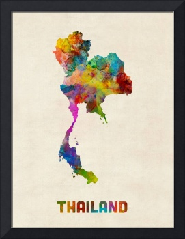 Thailand Watercolor Map