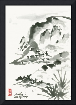 Seascape In Japanese Zen Style