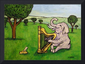 Elephant Playing the Harp