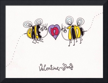 Vale n Tine the valentine bees valentines day stev