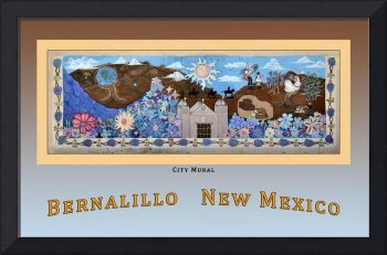Poster of City Mural (Photo) Bernalillo New Mexico