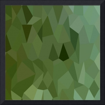 Tea Green Abstract Low Polygon Background