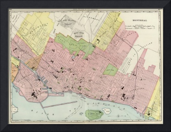 Vintage Map of Montreal (1903)