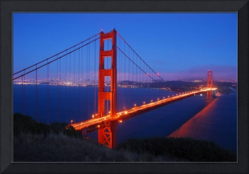 San Francisco-Golden Gate Bridge at Night