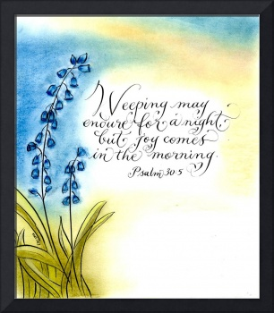Psalm 30:5 calligraphy art