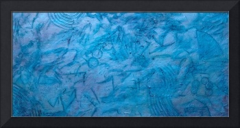 Turquoise and Blue Abstract 2