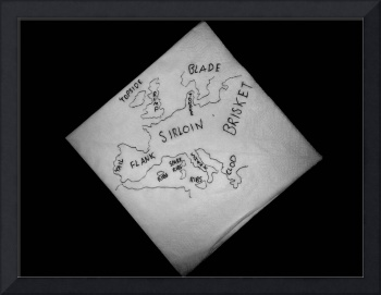 Satirical Map Napkin Diplomacy