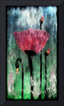 24a Abstract Floral Painting Digital Expressionism