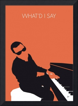 No003 MY Ray Charles Minimal Music poster