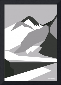 Everest Black - Art Gallery Selection