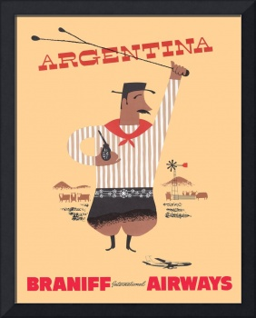 Braniff Argentina Poster