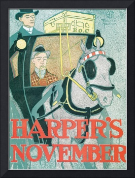 Harper's November by Edward Penfield