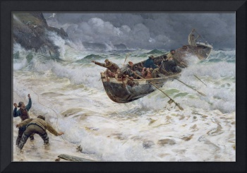 How the Boat Came Home by Charles Napier Hemy