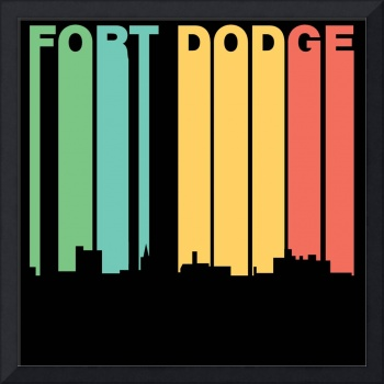 Retro 1970's Style Fort Dodge Iowa Skyline