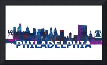 Philadelphia Skyline Scissor Cut Giant Text