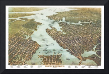 Norfolk Virginia Panoramic Map