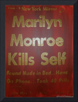 Marilyn Monroe Kills Self Golden Anniversary (red)
