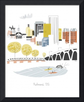 Richmond Modern Cityscape Illustration