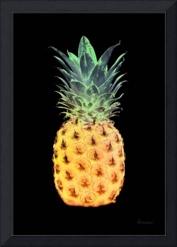 14r Abstract Expressive Pineapple Digital Art