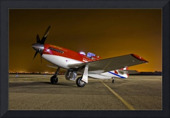 Strega, a highly modified P 51D Mustang racer