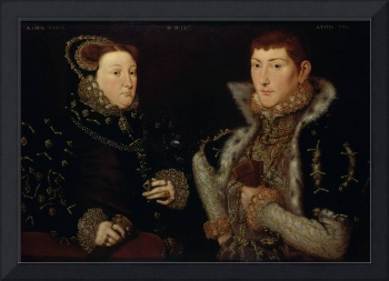 Lady Mary Nevill and her son Gregory Fiennes, 1559