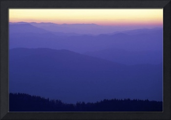 Dawn from Clingmans Dome Great Smoky Mountain NP
