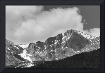 Colorado Longs Peak West Face Noir