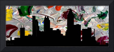 Decorative Skyline Abstract  Atlanta T1115G