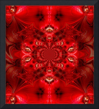 Abstract Art Red Cocoon 3