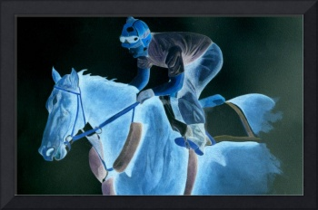 Race Horse and Jockey