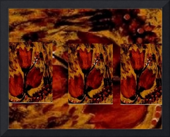 Tulips In Acryl Collage