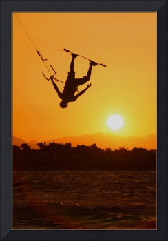 Mike Blomvall Inverted Jump Silhouette