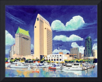 San Diego Waterfront by Riccoboni