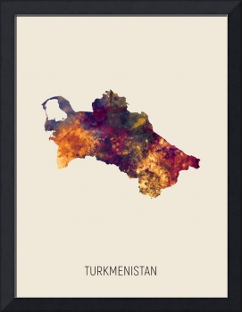 Turkmenistan Watercolor Map