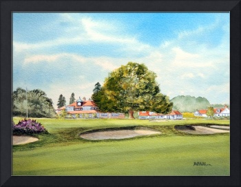 Sunningdale Golf Course 18th Green Painting