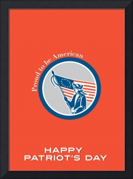 Patriots Day Greeting Card American Patriot Soldie