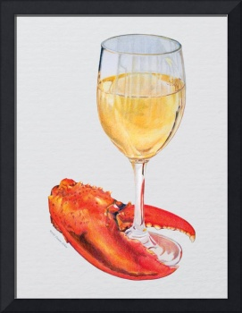 Lobster Claw and Wine