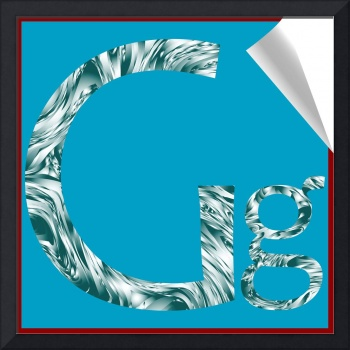 alphabet letter G sticker