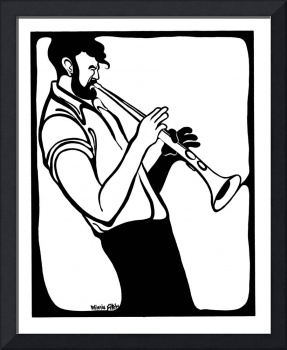 Horn Player (B&W)